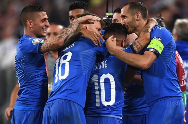 insigne lorenzo italia bosnia euro2020 2019 calcio